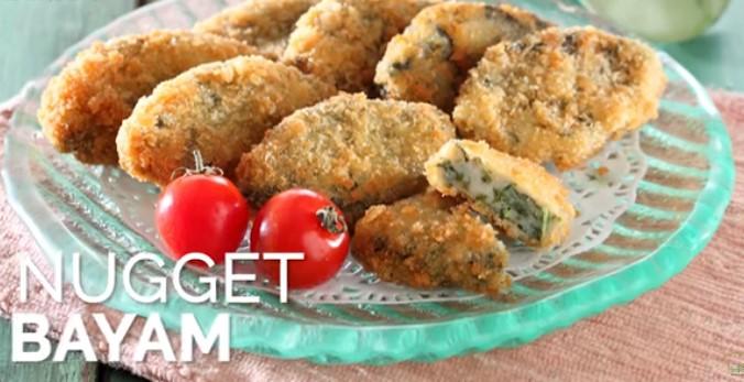 resep dan cara membuat Nugget Bayam